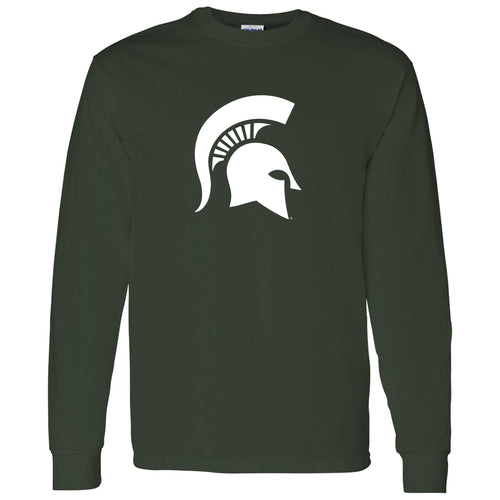 Michigan State University Spartan Logo Long Sleeve T Shirt - Forest