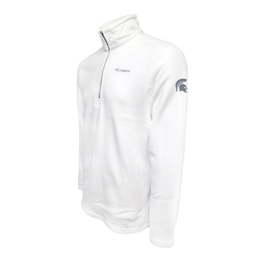 Michigan State Columbia Fleece - Grey Thread - White