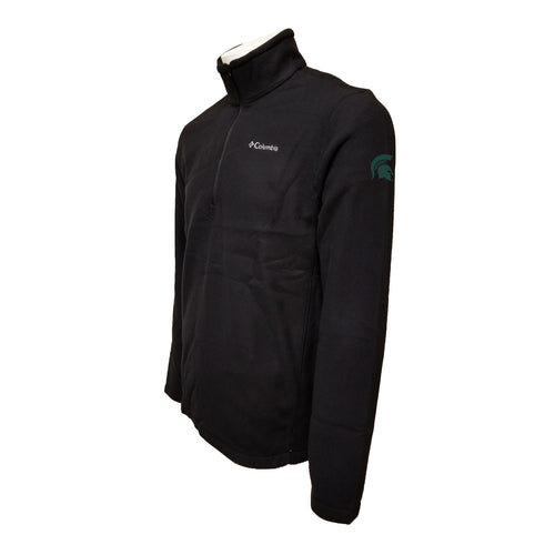 Michigan State University Spartan Logo Columbia Fleece - Green Thread - Black