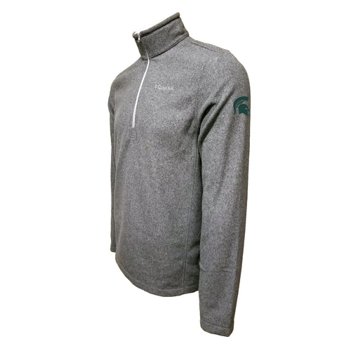 Michigan State Columbia Fleece - Green Thread - Grey