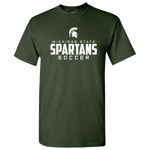 Michigan State Mascot Wordmark Soccer T Shirt - Forest