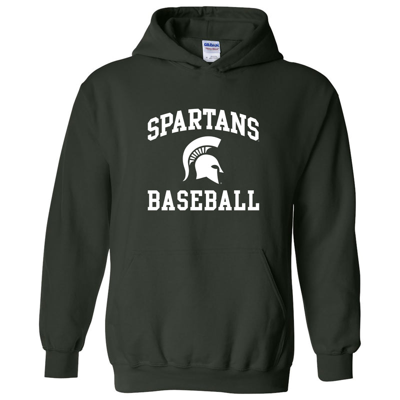 Michigan State University Spartans Arch Logo Baseball Hoodie - Forest