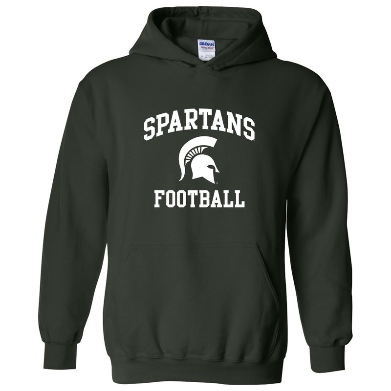 Michigan State University Spartans Arch Logo Football Hoodie - Forest