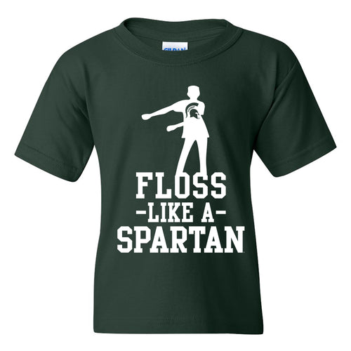 Floss Like a Spartan Youth Basic Tee - Forest