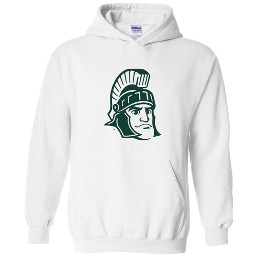 Michigan State University Spartans Sparty Mark Hoodie - White