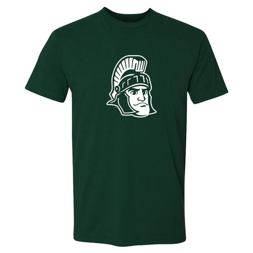 Michigan State University Spartans Sparty Mark Next Level Short Sleeve T Shirt - Forest Green