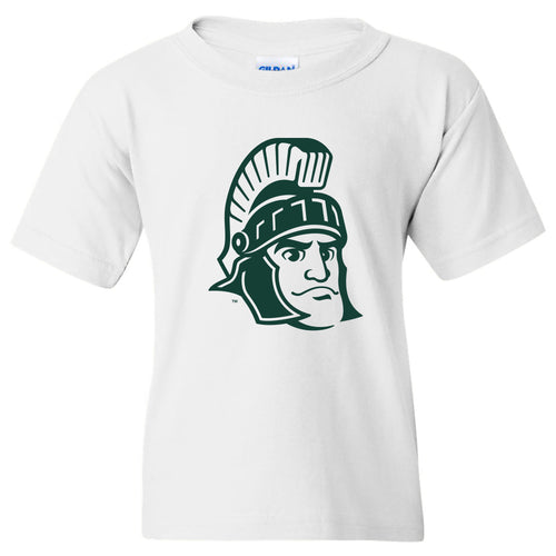 Michigan State Sparty Mark Youth T Shirt - White
