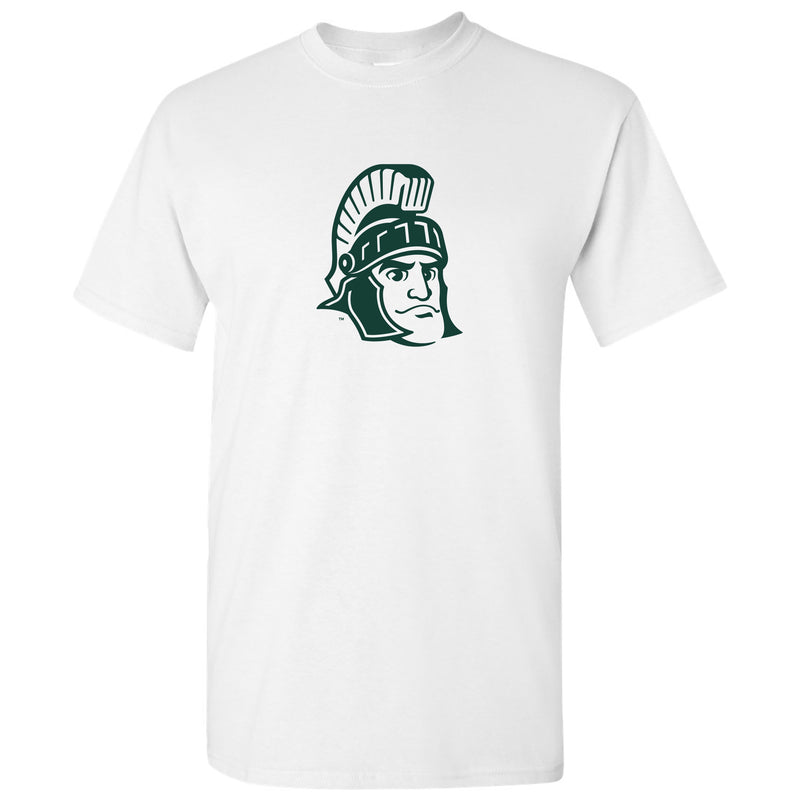 Sparty Mark Michigan State Basic Cotton Short Sleeve T Shirt - White