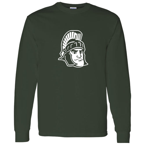 Michigan State University Spartans Sparty Mark Long Sleeve - Forest