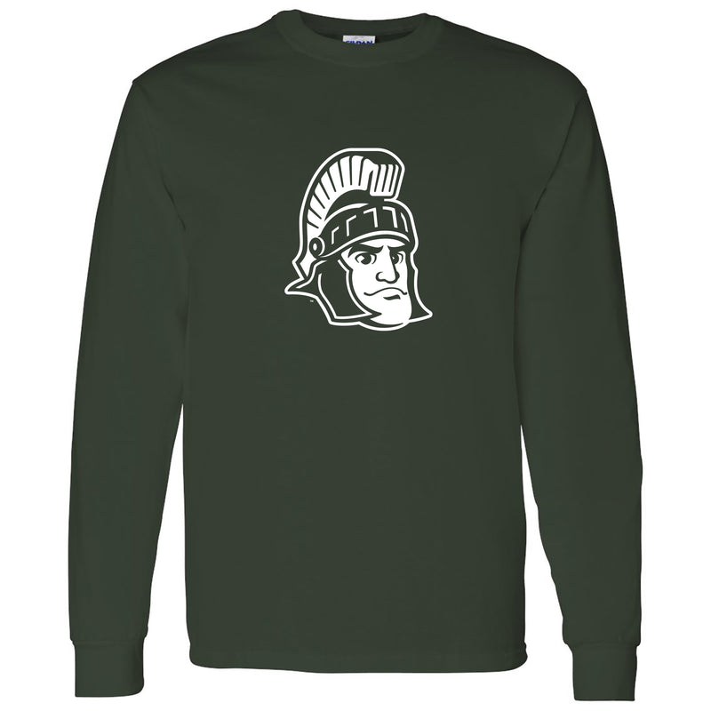 Sparty Mark Michigan State Heavy Cotton Long Sleeve - Forest