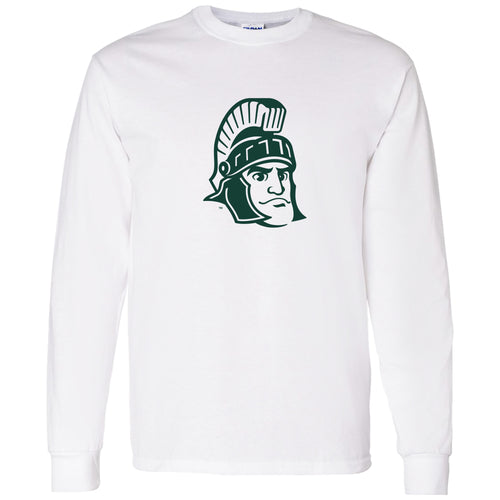 Michigan State University Spartans Sparty Mark Long Sleeve T Shirt- White