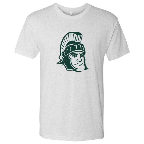 Michigan State University Spartans Sparty Mark Next Level Short Sleeve T Shirt - Heather White