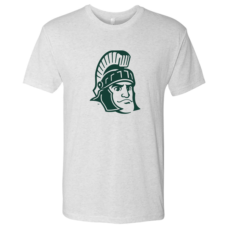 Michigan State Sparty Mark NLA Triblend - Heather White