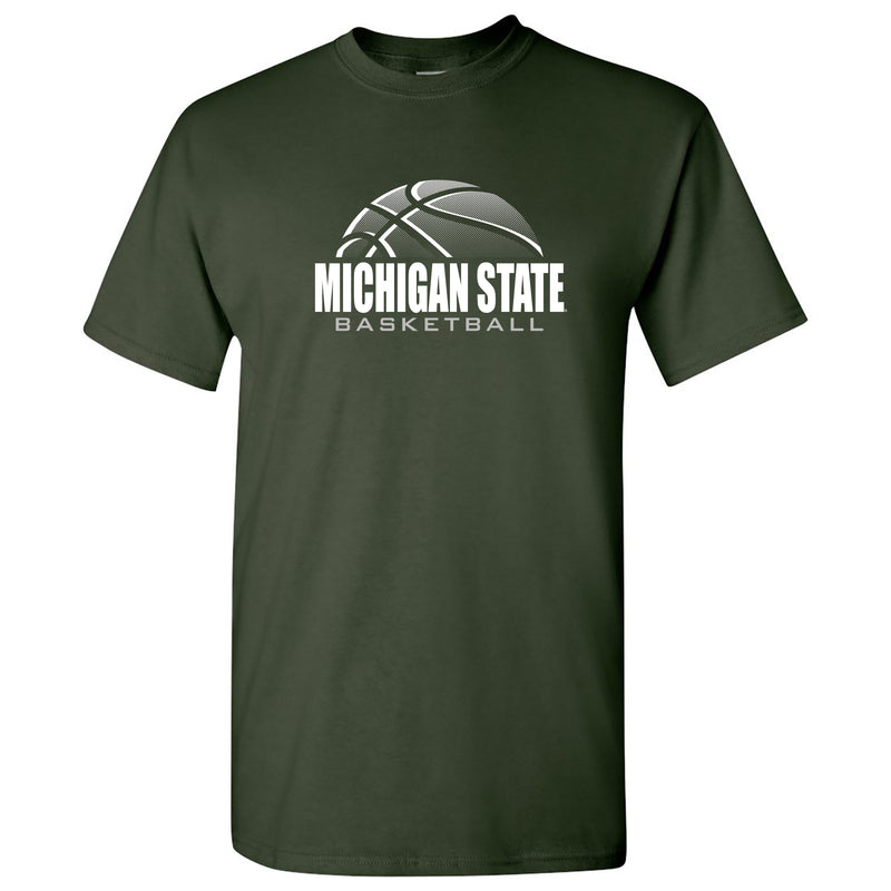 Michigan State University Spartans Basketball Shadow Short Sleeve T Shirt - Forest