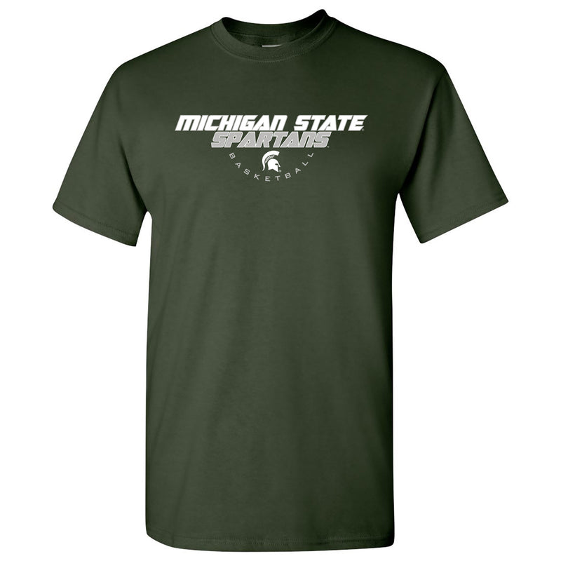 Michigan State University Spartans Basketball Tech Short Sleeve T Shirt - Forest