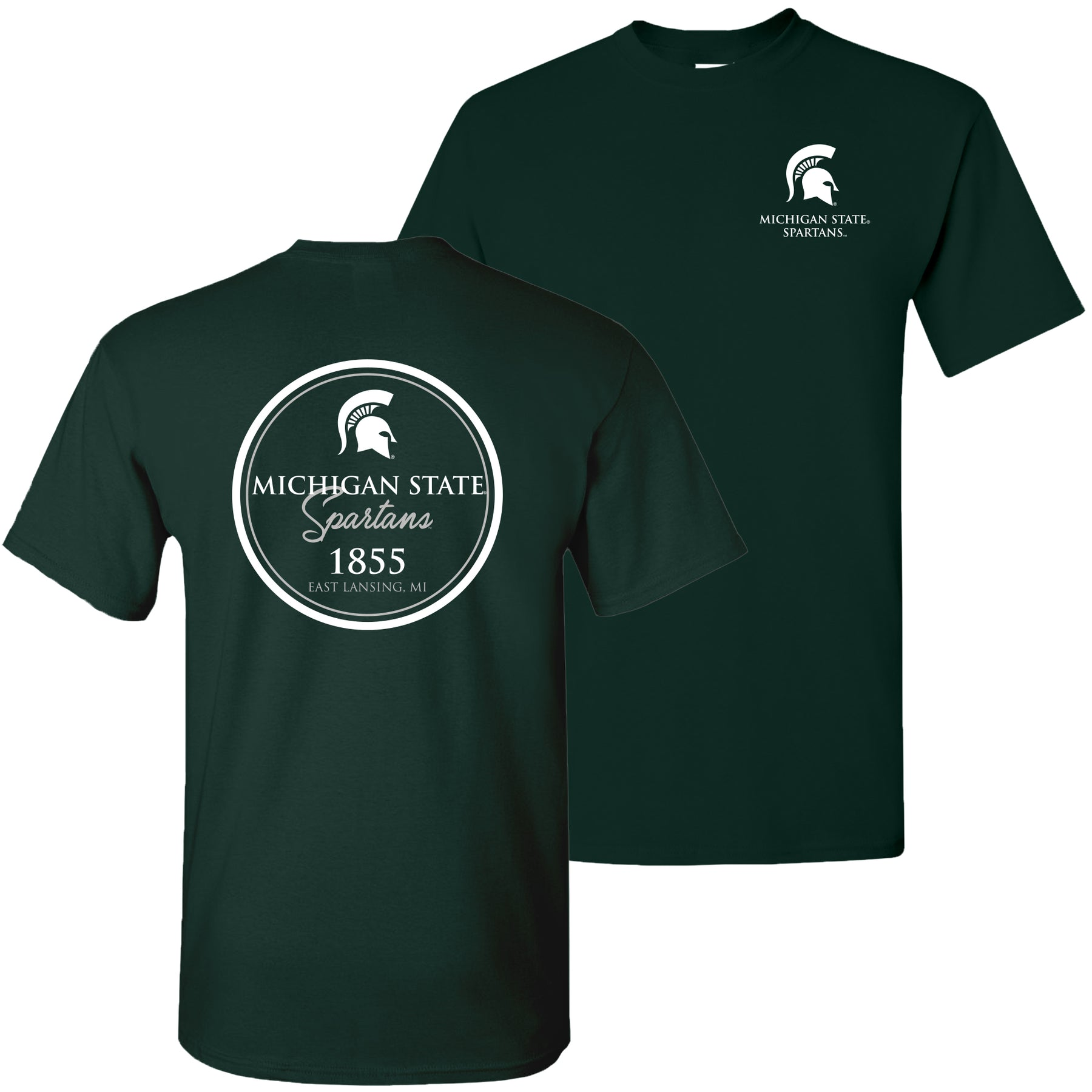 super popular 10cd6 97e8e Michigan State University Spartans Classic Circle Short Sleeve T Shirt -  Forest