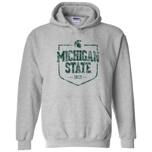 Michigan State University Spartans Timber Shield Heavy Blend Hoodie - Sport Grey