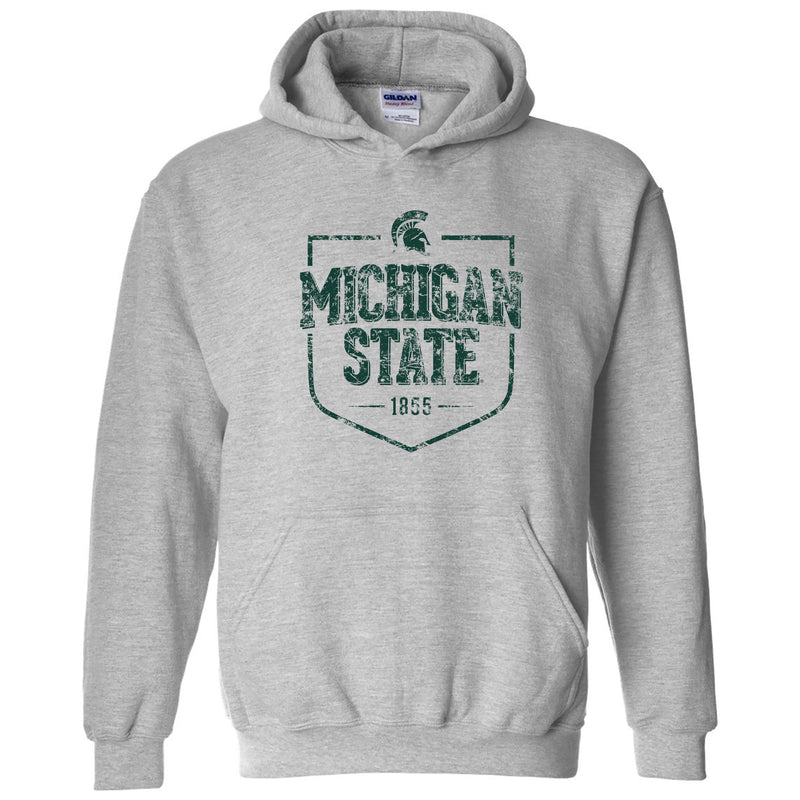 Timber Shield Michigan State Spartans Heavy Blend Hoodie - Sport Grey