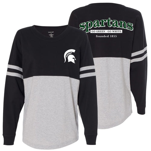 Michigan State University Sophisticate Pom Jersey - Black/Oxford