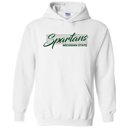 Michigan State University Spartans Screen Play Heavy Blend Hoodie - White