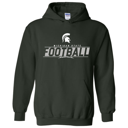 Michigan State University Spartans Football Charge Hoodie - Forest
