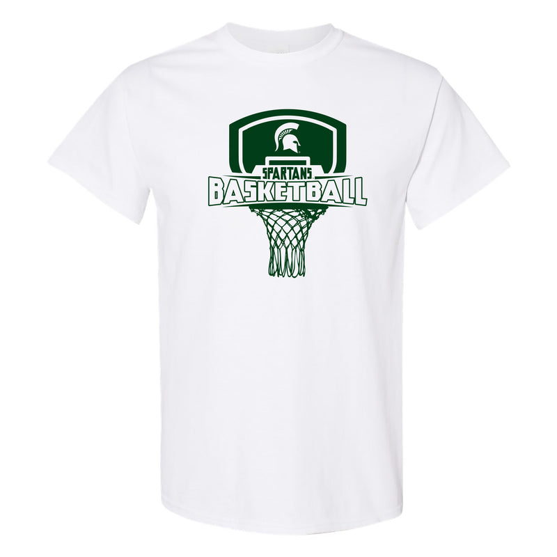 Michigan State University Spartans Basketball Board Short Sleeve T-Shirt - White