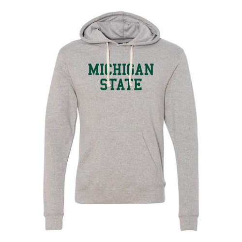 Michigan State University Spartans Basic Block J America Hoodie - Grey