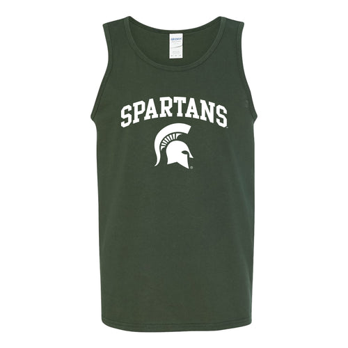 Michigan State University Spartans Arch Logo Tank Top - Forest Green