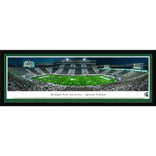 Michigan State University Spartans Football Spartan Stadium Stripe Panorama - Select Frame