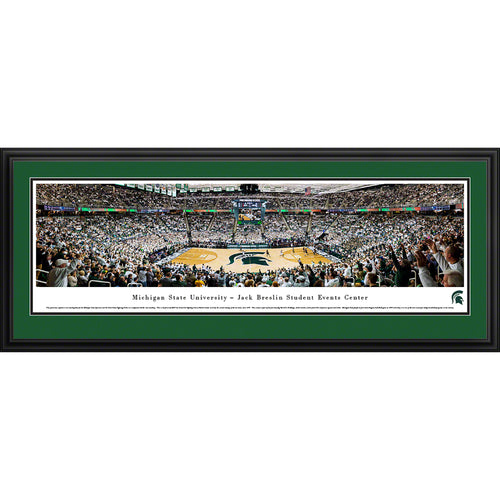 Michigan State University Spartans Breslin Center Basketball Panorama - Deluxe Frame