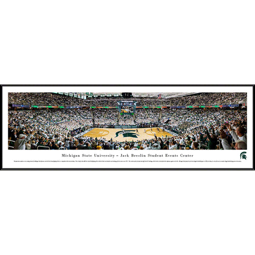 Michigan State University Spartans Breslin Center Basketball Panorama - Standard Frame