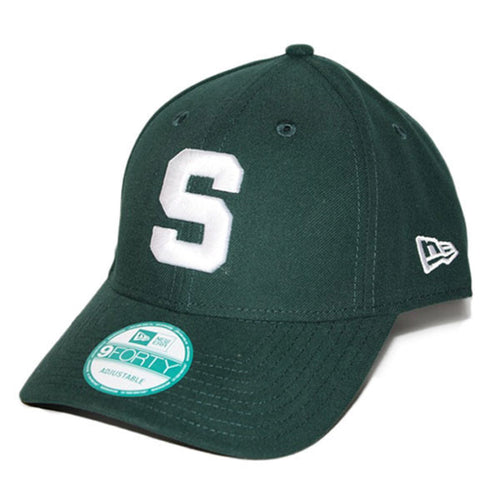 Block S Michigan State New Era 9Forty The League Baseball Cap - Dark Green
