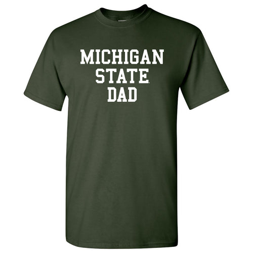 Michigan State University Spartans Basic Block Dad Next Level Short Sleeve T Shirt - Forest Green
