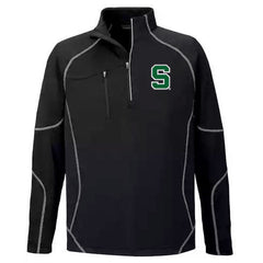 Block S 1/2 Zip Performance Fleece - Black