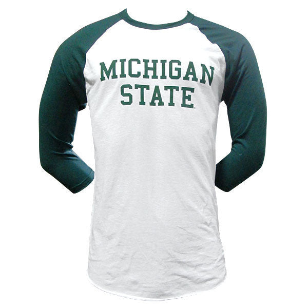 Block MSU 3/4 Sleeve - White / Forest