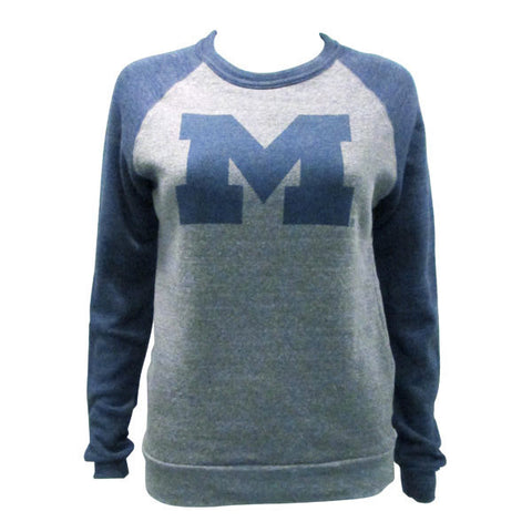 Block M Distress Color Block Pullover - Eco Grey/Eco Navy