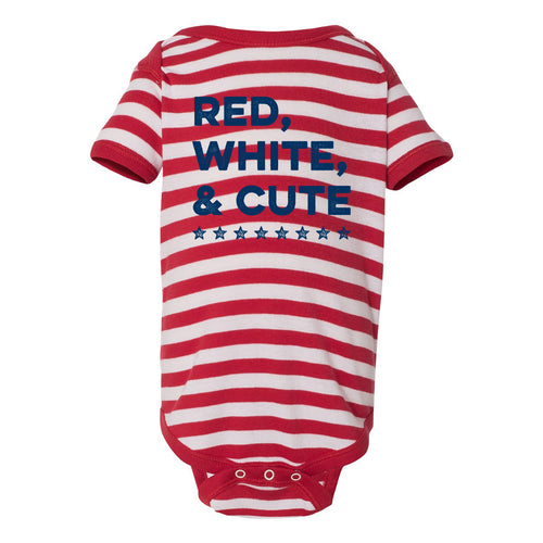 Red White & Cute Onesie - Red/White Stripe