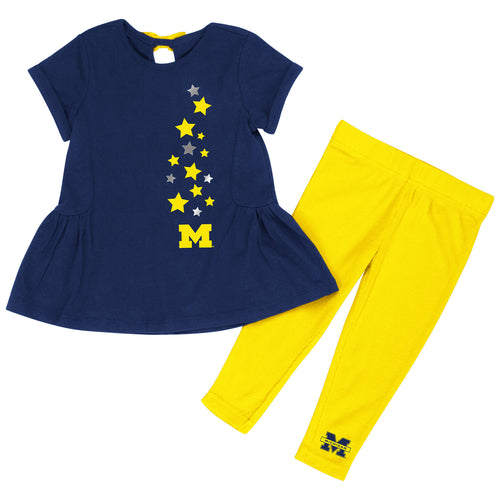 Michigan Infant Girls Shot Put Set - Navy
