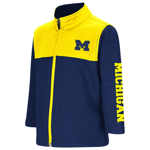 Michigan Toddler Boys Clutch Full Zip Jacket - Navy