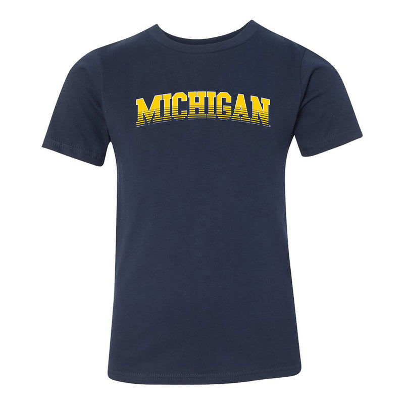 Michigan Arch Fade Youth Tee - Midnight Navy