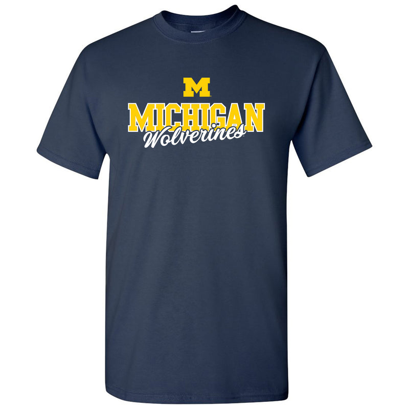 Michigan Fresh Script - Navy