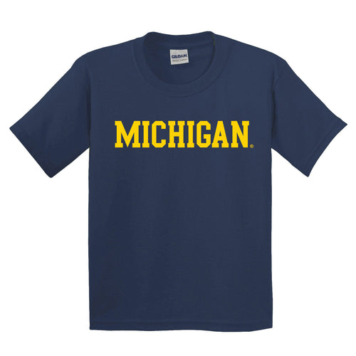 Michigan Basic Short Sleeve Youth - Navy