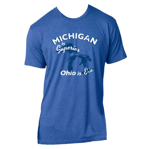 Michigan Is Superior Ohio Is Erie - Vtg Royal