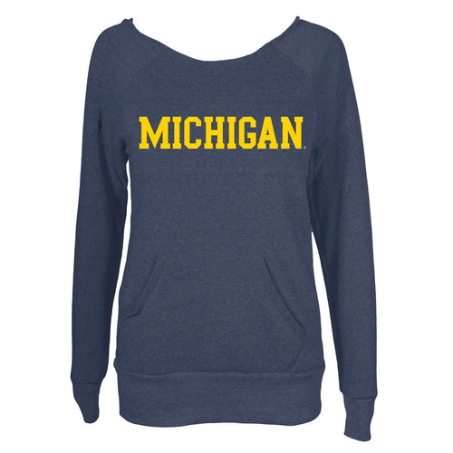 Block Michigan Maniac - Eco Navy with Yellow Print