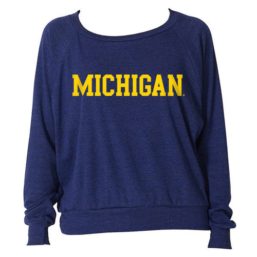 Block Michigan Raglan - Tri-Indigo