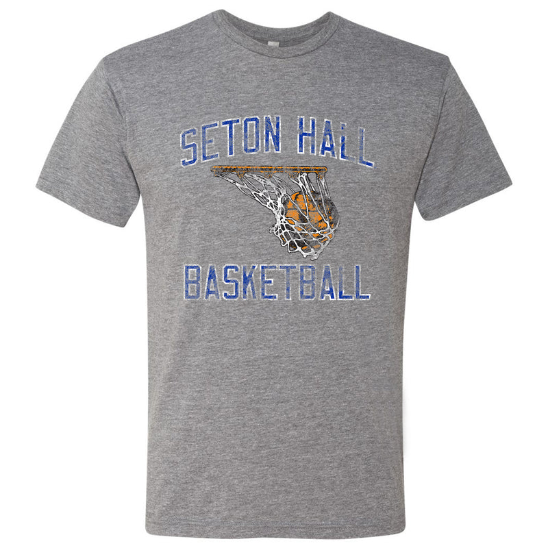 Seton Hall Retro Basketball T Shirt - Premium Heather