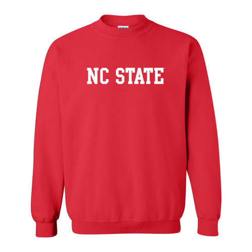 North Carolina State University Wolfpack Basic Block Crewneck Sweatshirt - Red