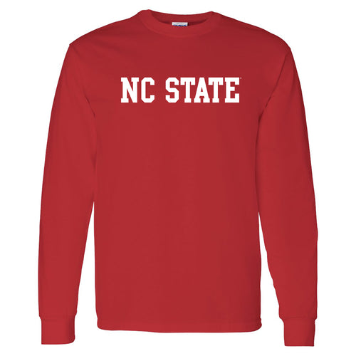 North Carolina State University Wolfpack Basic Block Long Sleeve T Shirt - Red
