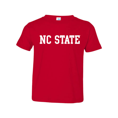 North Carolina State University Wolfpack Basic Block Toddler Short Sleeve T-Shirt - Red