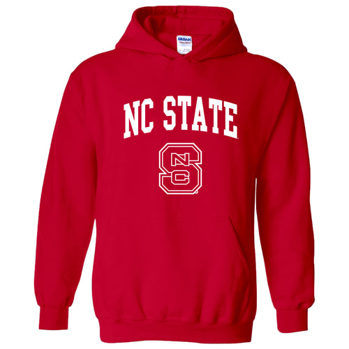 North Carolina State University Wolfpack Arch Logo Hoodie - Red